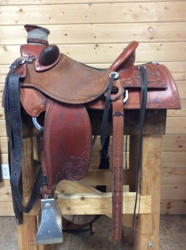 """15"""" Wade saddle by Jeff Haslam for Sale - For more information click on the image or see ad # 57994 on www.RanchWorldAds.com"""