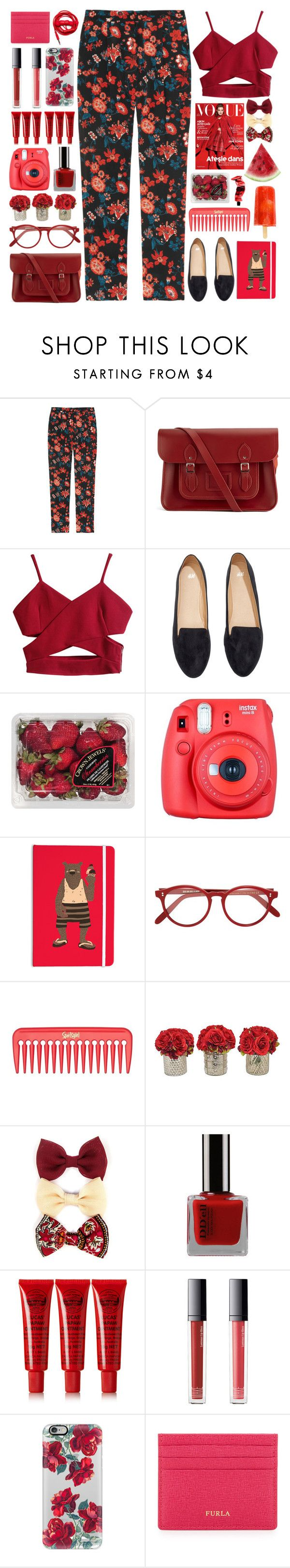 """Troye Sivan - EASE"" by annaclaraalvez ❤ liked on Polyvore featuring DKNY, The Cambridge Satchel Company, H&M, FRUIT, Fuji, Cutler and Gross, The French Bee, Carole, Lucas' Papaw Ointment and Make"