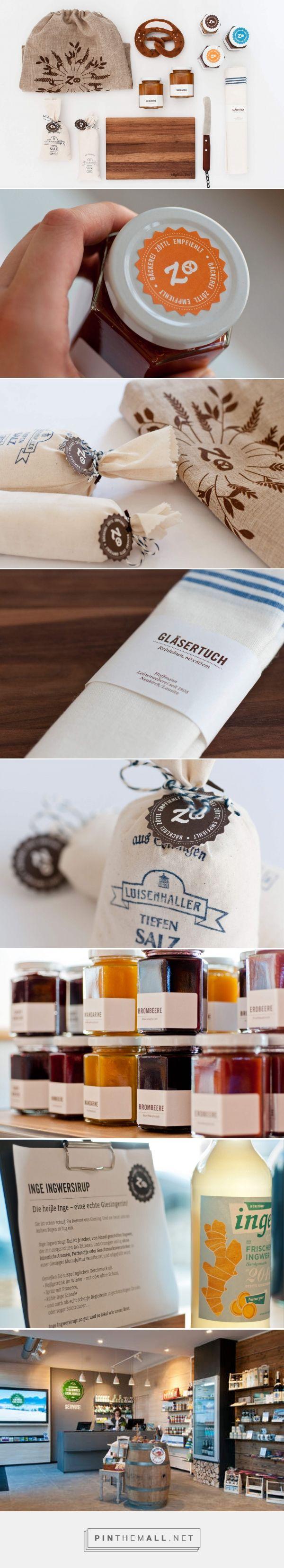 Bäckerei Zöttl Authentisches Handelswarenkonzept | Marken- und Design-Agentur Zeichen & Wunder curated by Packaging Diva PD.  Packaging goodies looks like a nice place to shop.