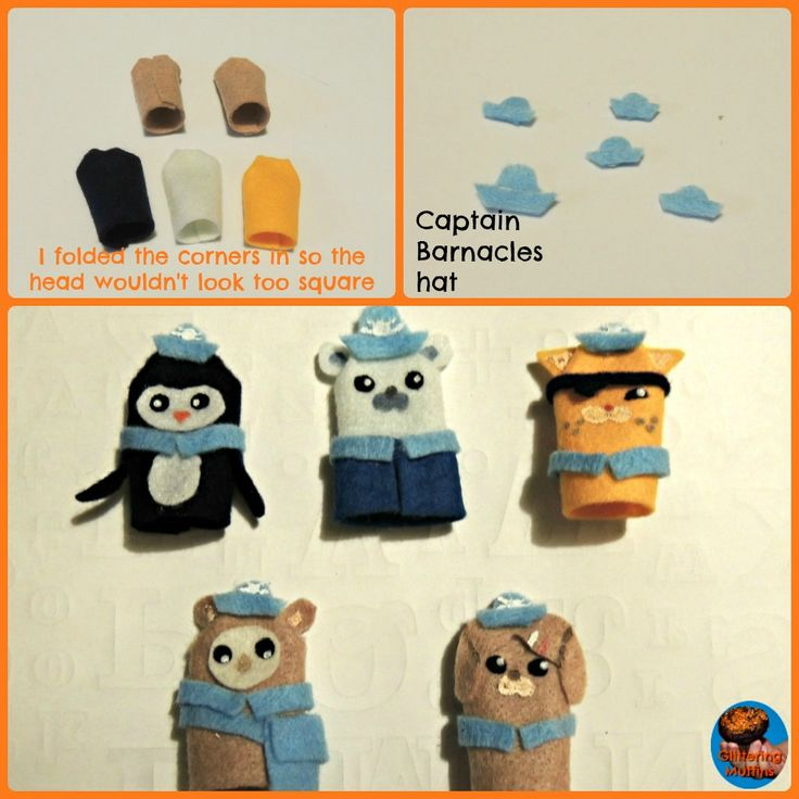 DIY Octonauts felt finger puppets | Glittering Muffins