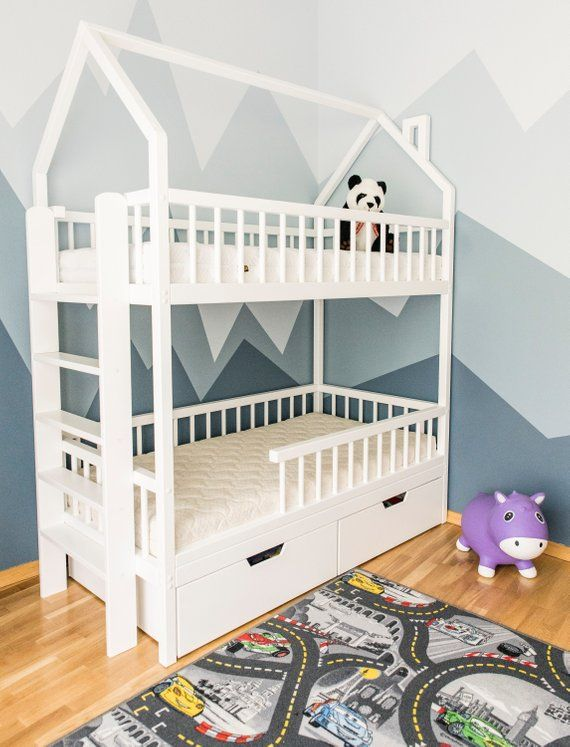 Bunk Bed With Slides The Best Kids Beds Ever Designed Bunkbeds Kidsbeds Beds Bed With Slide Diy Toddler Bed Kid Beds
