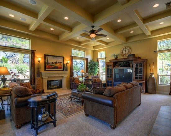Mediterranean Living Rooms, House Beautiful, Family Rooms, Living Spaces,  For The Home, Sacramento