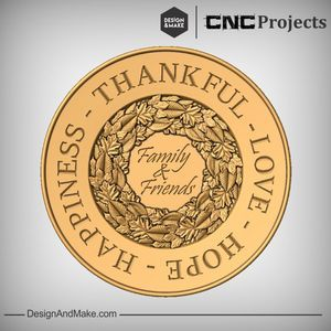 CNC Projects: Vectric's Design and Make Thanksgiving No.1 Idea