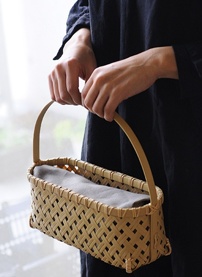 Bamboo Bag from Nakagawa Masashichi Shoten - Analogue Life: あけびミニ籠バッグ&竹かごバッグ入荷