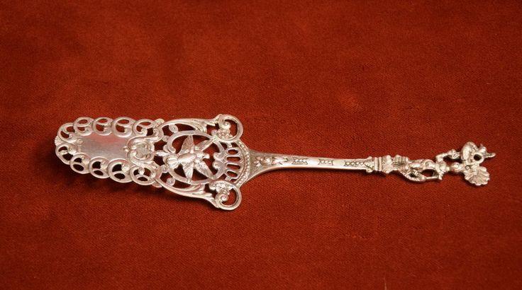 Tortenheber 800 Silber , Halbmond Gravur - Rarität   eBay