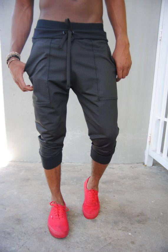 Mens Black Jogger Shorts / Athletic Mesh / Mens by GAGTHREADS