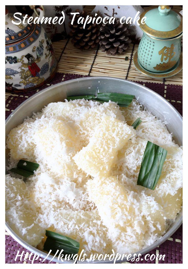 Steamed tapioca cake