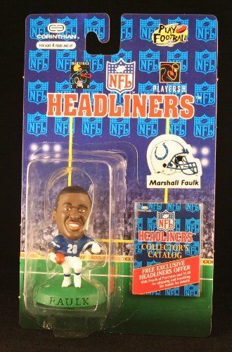MARSHALL FAULK  INDIANAPOLIS COLTS  3 INCH  1996 NFL Headliners Football Collector Figure ** Find out more about the great product at the image link.Note:It is affiliate link to Amazon.