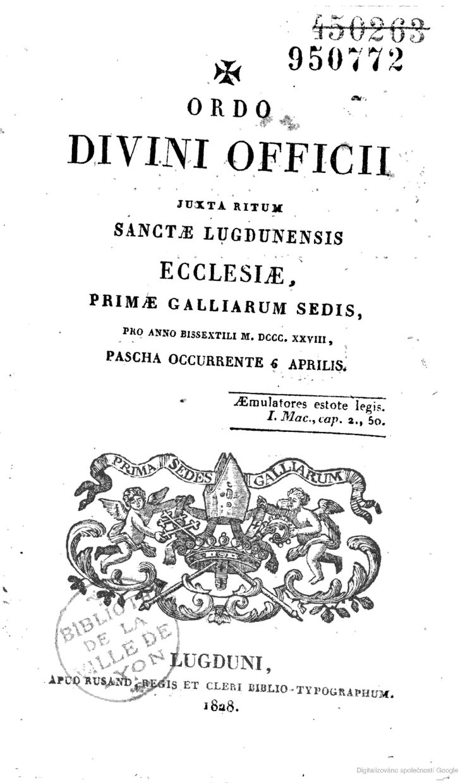 Ordo des diocèses de Lyon et Saint-Etienne