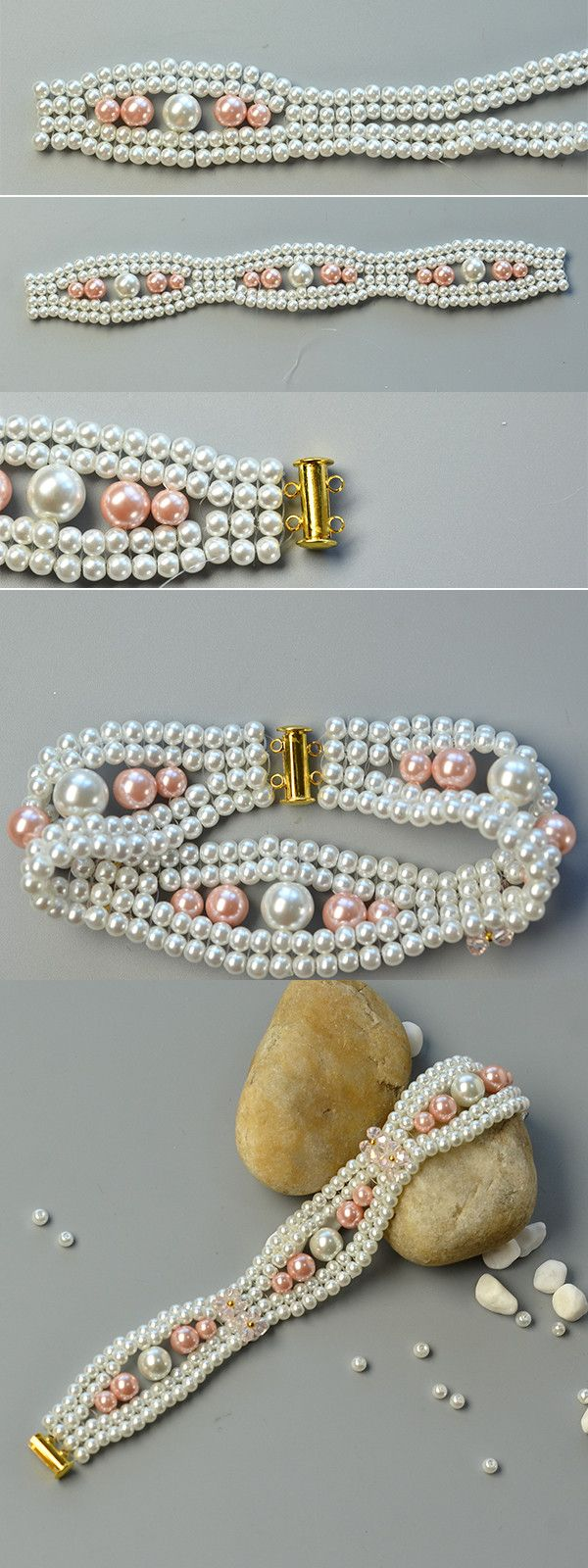 Like the elegant pearl beads bracelet?The tutorial will be shared by LC.Pandahall.com soon.