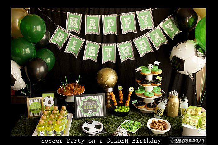 Soccer Birthday Party #printables #soccer
