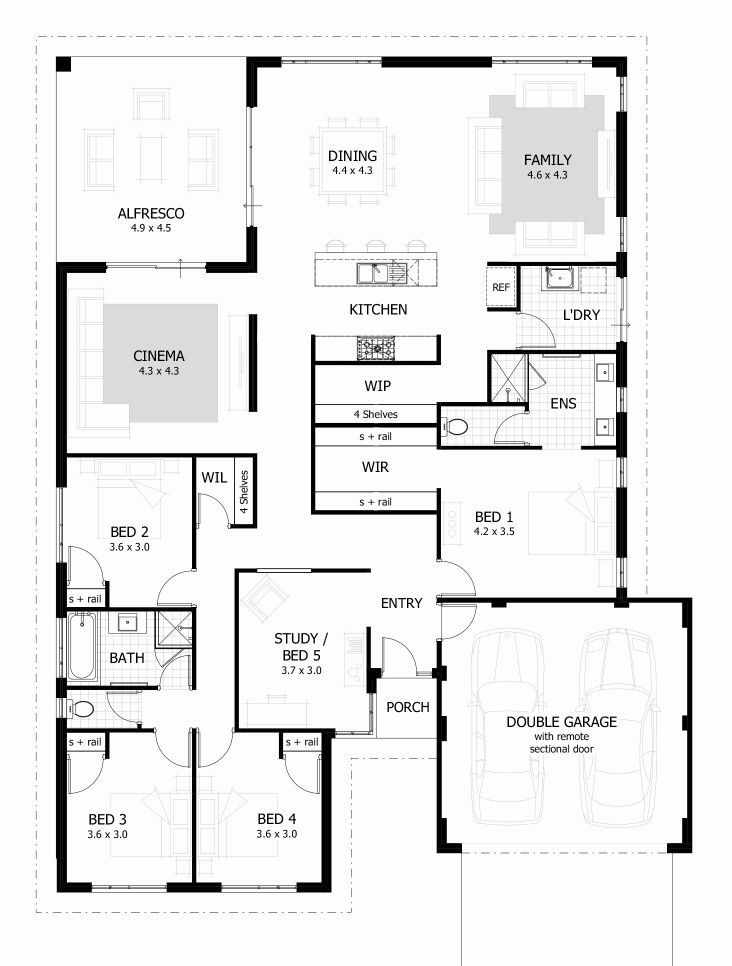 Floor Plans For A 4 Bedroom 2 Bath House Floor Plan Design Free House Plans Four Bedroom House Plans
