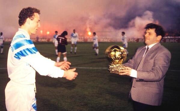 Jean-Pierre Papin (Olympique de Marseille. France). Ballon d'Or 1991