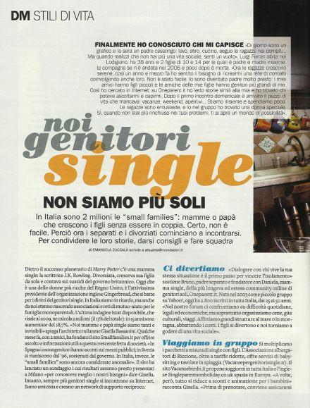in #Italia sono 2 milioni le famiglie  che crescono da soli i loro figli fra mille difficoltà, ora incominciano sempre più ad incontrarsi per aiutarsi fra loro, visto che lo stato non fa quasi nulla per loro