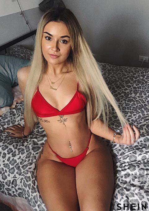 Set Dos En Triangular Color De Piezas Bikini Rojo WIYH92ED