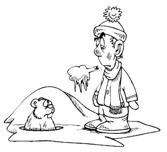 groundhog day meets parents coloring page - Groundhog Day Coloring Pages Kids