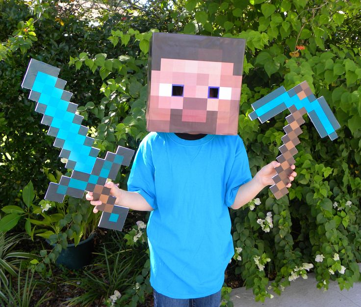 How to make MINECRAFT Diamond Sword and Diamond Pickaxe
