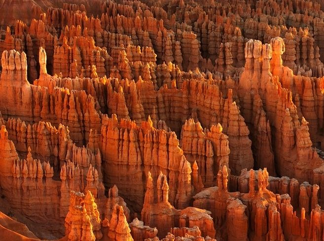 The red and orange rock formations create stunning vistas in Bryce Canyon, Utah. (photo: Anna Morgan)