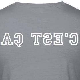 """Tee shirt, """"c'est ça"""" by phb creation  Tee shirt Femme, American Apparel  Tee shirt coupe près du corps pour femmes, 100% coton,"""