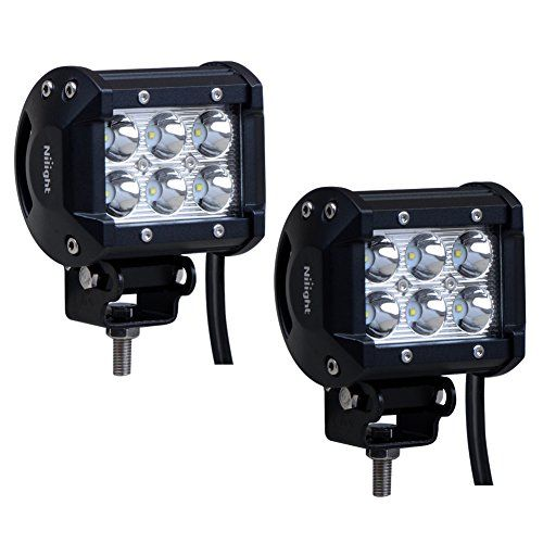 """Nilight 2PCS 18W 1260lm Spot Driving Fog Light Off Road Led Lights Bar Mounting Bracket for SUV Boat 4"""" Jeep Lamp,2 years Warranty - http://www.caraccessoriesonlinemarket.com/nilight-2pcs-18w-1260lm-spot-driving-fog-light-off-road-led-lights-bar-mounting-bracket-for-suv-boat-4-jeep-lamp2-years-warranty/  #1260Lm, #2Pcs, #Boat, #Bracket, #Driving, #Jeep, #Lamp2, #Light, #Lights, #Mounting, #Nilight, #ROAD, #Spot, #Warranty, #Years #Jeep-Parts-Accessories"""