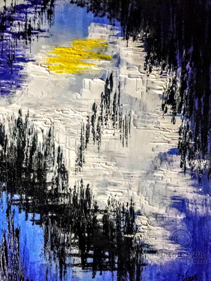 LA LUZ...lienzo pintado abstracto 60x50 cm - Pintura,  50x60x2 cm ©2016 por Leonor Solbes Arjona -                                                            Arte abstracto, Lienzo, Arte abstracto, lienzo, pintura, abstracto, moderno, arte, cuadro, decoración