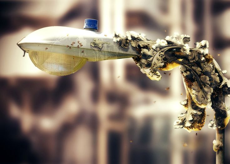 "bio-design / bot design inspiration  Bees could 3D-print ""concrete honey"""