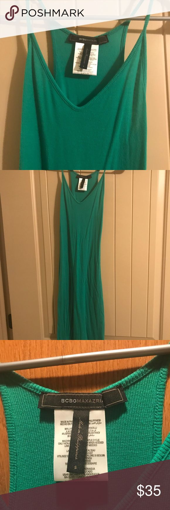 BCBG green bodycon dress Green small BCBG dress. Lightly worn. BCBG Dresses Midi