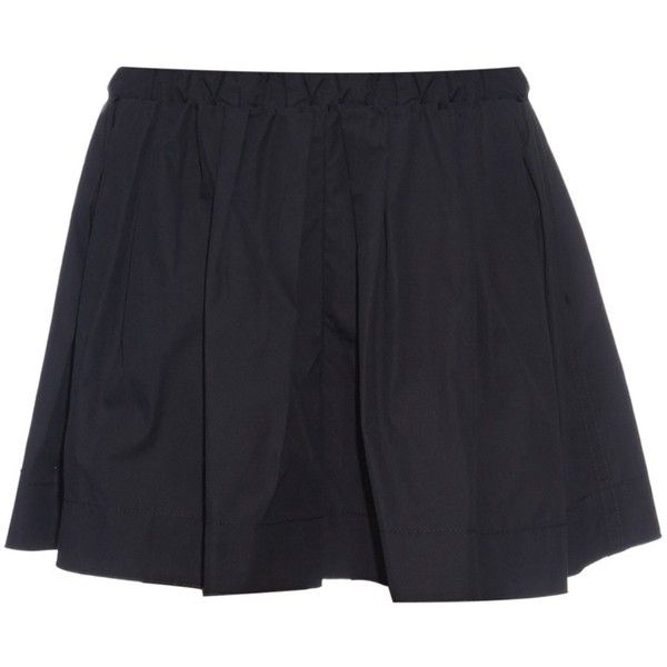 Marc Jacobs Wide-leg cotton shorts ($416) ❤ liked on Polyvore featuring shorts, skirts, bottoms, black, marc jacobs, cotton shorts and marc jacobs shorts