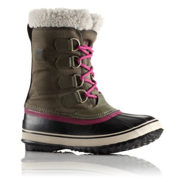 Winter Carnival (165 CAD) ❤ liked on Polyvore featuring shoes, boots, botas, sorel shoes, sorel boots, dog boots, waterproof footwear and waterproof shoes