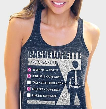 Bachelorette Dare Checklist Flowy Racerback Tank