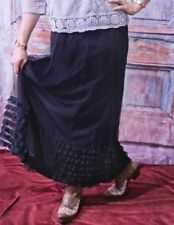 Victorian Trading Co Layers of Ruffles Black Long Tulle Maxi Skirt XXL
