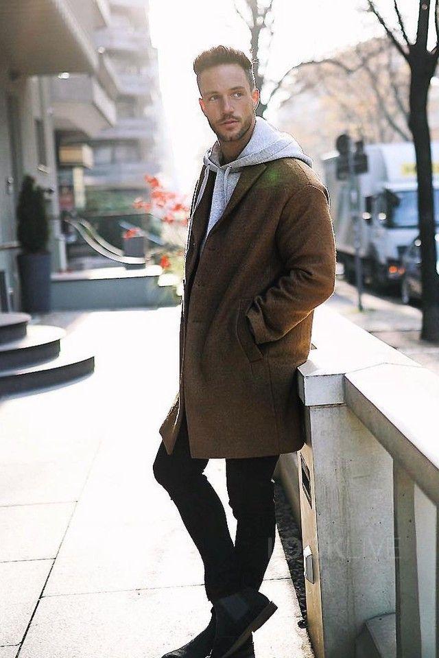 Daniel Fox wearing Zara Studio Overcoat