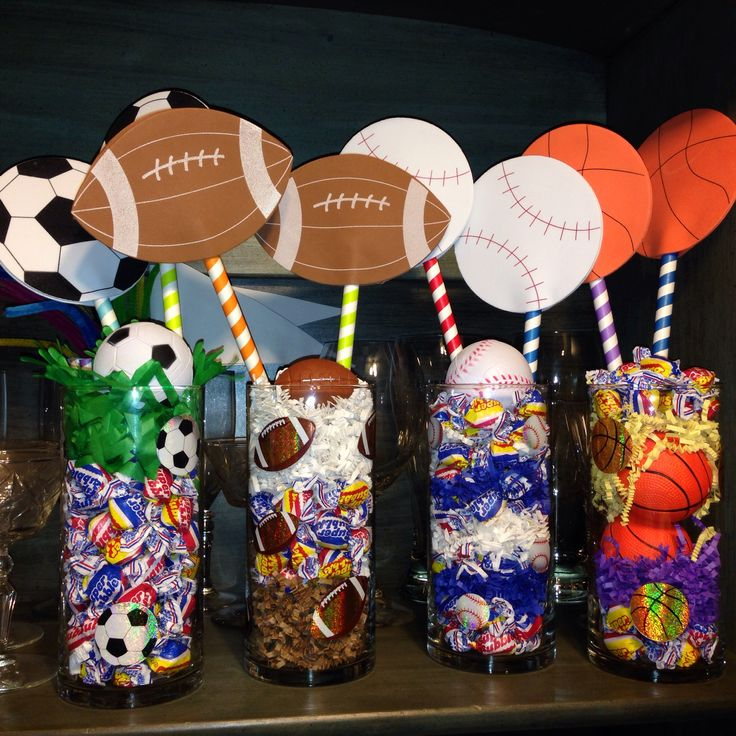 Best 25 sports themed centerpieces ideas on pinterest for All decoration games