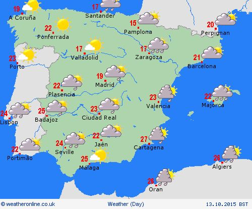 Overview Spain Europe Forecast Maps Stuff To Buy Pinterest