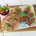 Fun Salad Skewers made with Prosciutto di San Daniele and delicious Grana Padano Cheese Toasties, the perfect lunch for kids and great for play dates!