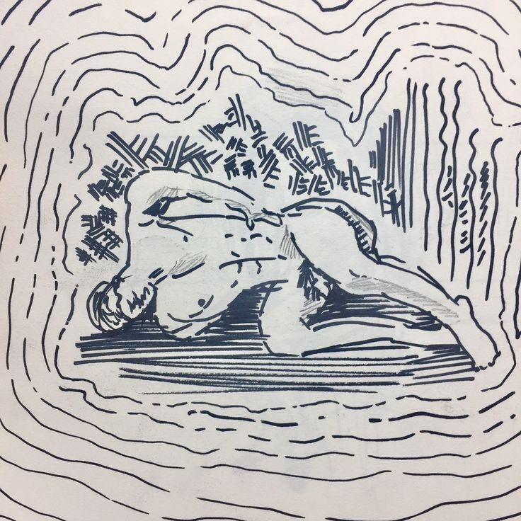 [레버넌트] 영화 레버넌트의 주인공이 나체로 영하의 기온에서 곰의 시체 안에 들어가 추위를 피하고 있는 상황을 묘사했습니다.