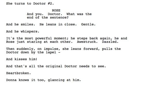 It breaks both my hearts to read this (script from Journey's End with Rose, 10, 10.2, & Donna)