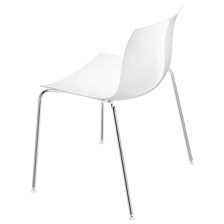 Arper - Catifa 53 Stuhl, Kunststoff-Sitzschale weiß / Vierfußgestell, 183 €