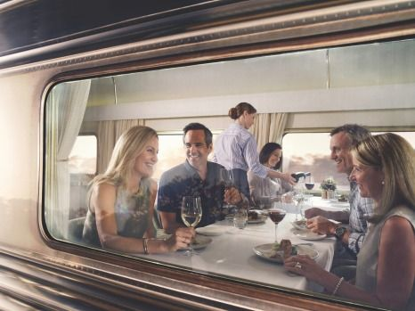Platinum club dinning car: The Ghan.