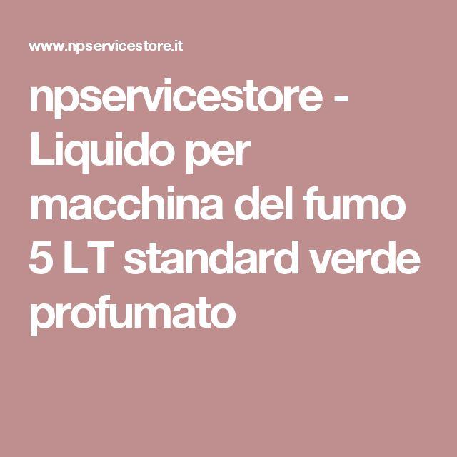 npservicestore - Liquido per macchina del fumo 5 LT standard verde profumato