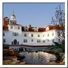 """The Stanley Hotel in Estes Park, CO.  Inspired Stephen King's """"The Shining"""" and Ghost Hunters hosts ghost hunting weekends here.    It's a beautiful hotel -- ghosts or no ghosts."""