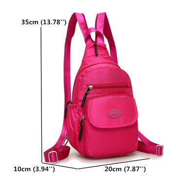 14303e9efe57 Women Nylon Casual Chest Bag Lightweight Backpack Shoulder Bags ...