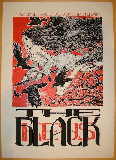 The Black Keys - silkscreen concert poster (click image for more detail) Artist: Malleus Venue: Ziggo Dome Location: Amsterdam, Netherlands Concert Date: 12/3/2012 Edition: signed, numbered, and stamp