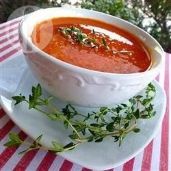 Recipe photo: Roasted Red Pepper and Cannellini Soup