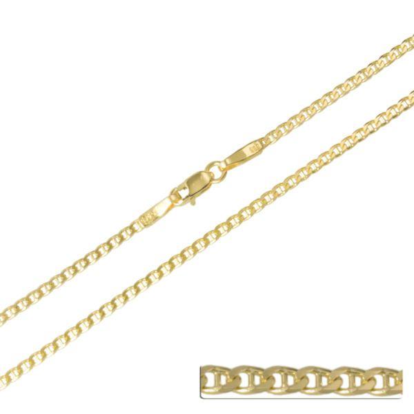 Goldkette 585 Massiv Stegpanzerkette Gelbgold Halskette 14K Damen 1,5 mm 40 60cm