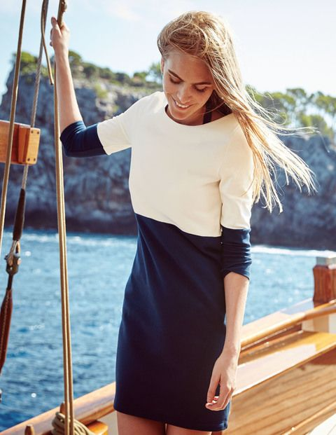 Colourblock Tunic Dress WH972 Day Dresses at Boden