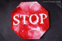 Stop Sign Printable Craft from http://learncreatelove.com