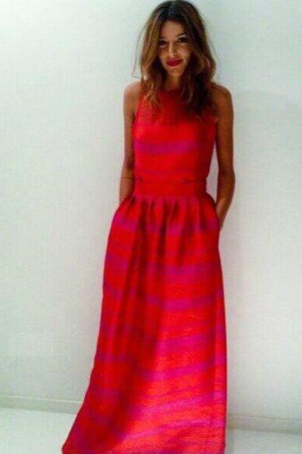 Calu Rivero // vestido Carolina Herrera
