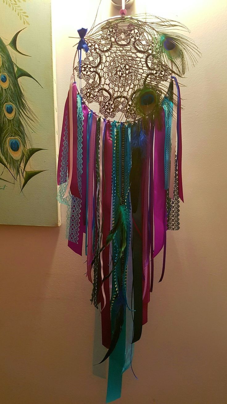 Peacock Dreamcatcher by Bells'n'Bling