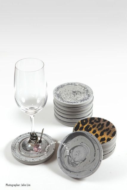 DIY Tutorial: How To Make Cement Coasters (Gift Idea)